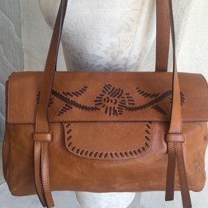 Blumarine Leather Boho Cowboy Saddle Shoulder Bag